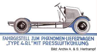 Fahrgestell zum Lieferungswagen Phänomen 4RL