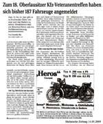 Sächsische Zeitung vom 14.05.2009