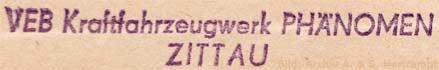 VEB Kraftfahrzeugwerk Phänomen Zittau