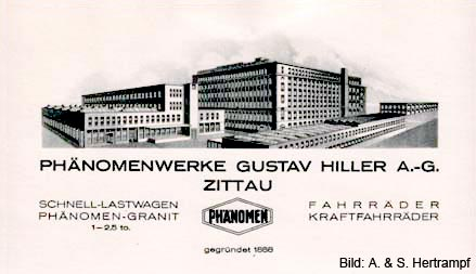 Phänomen Werke Gustav Hiller AG Zittau