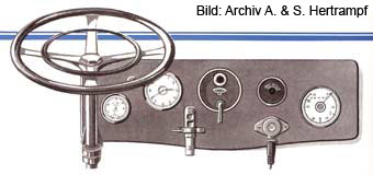 Armaturenbrett vom Lieferungswagen Phänomen 4RL