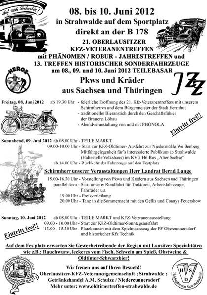 Veranstaltungsplan Strahwalde 2012